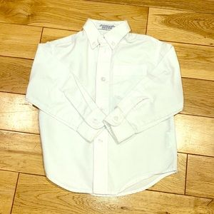IZOD Toddler Boy White Button Down Shirt  3T